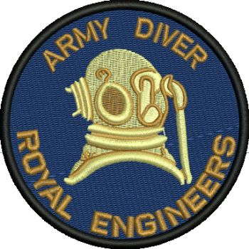 ARMY DIVER EMBROIDERED BADGE